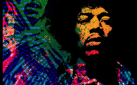 Hendrix - Print series for a gallery show.