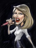 A Quick Caricature of Taylor Swift. Painter in Painter X