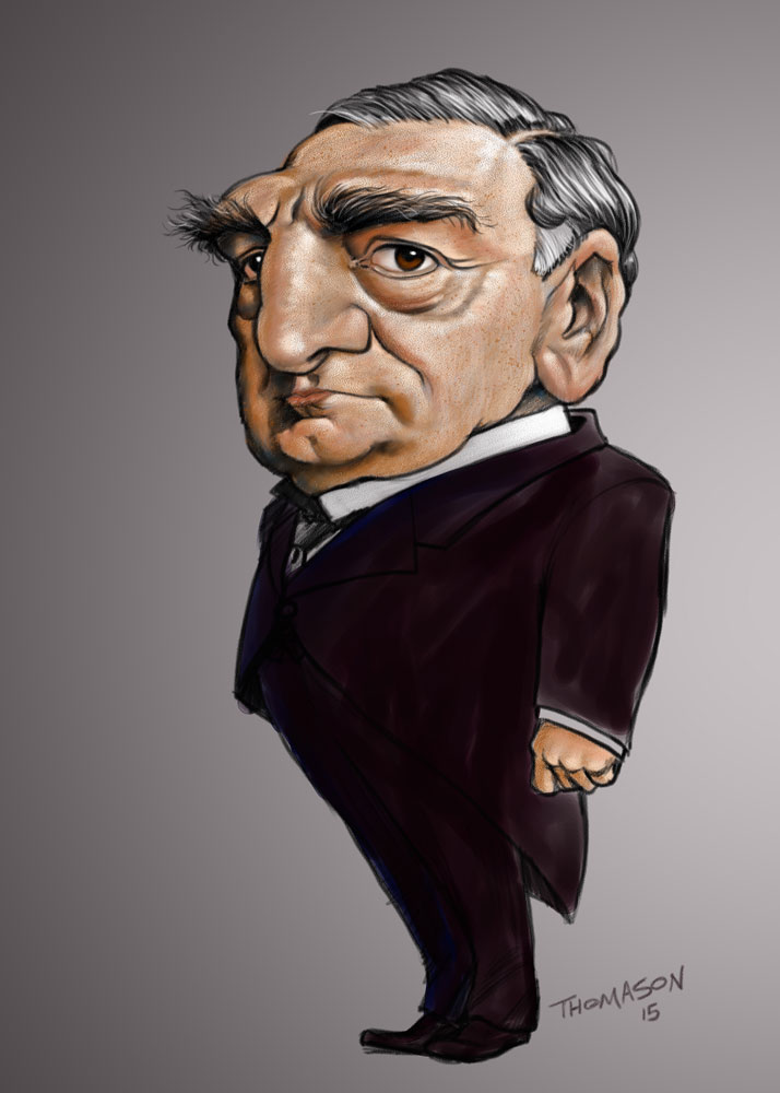 Day Off Doodle | Caricature of Carson from Downton Abbey