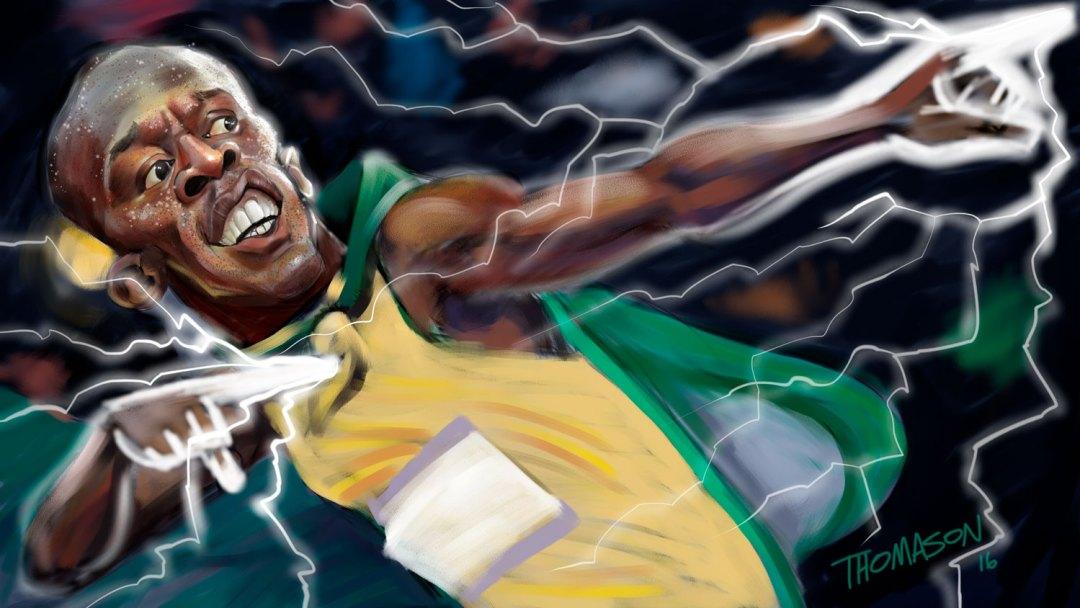 Usain Bolt Caricature #Rio2016