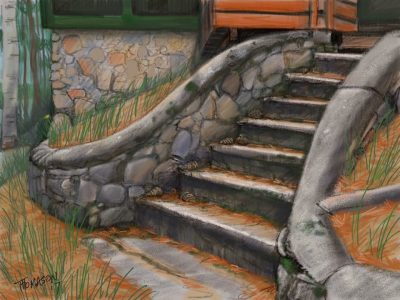 I add this image because i drew it on a retreat this week simply because I thought this staircase was beautiful.