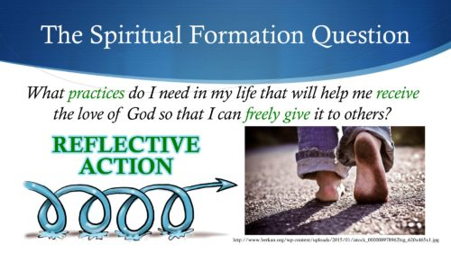 taking a step in spiritual formation