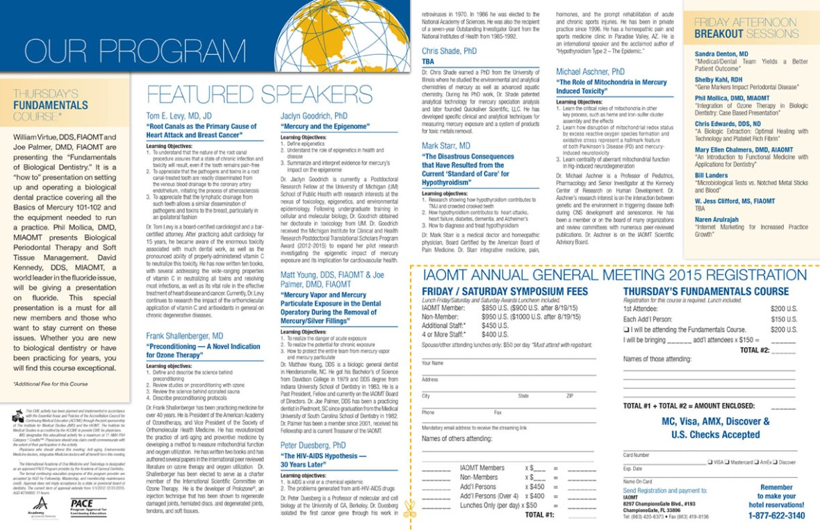 IAOMT Brochure Center Spread