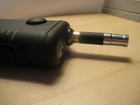 KVS bridgeless e-cigarette atomizer on a Boge Revolution V2.1