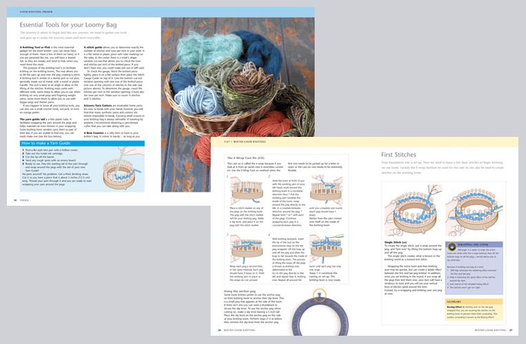 Book design – Loom Knitting