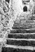 Old stone stairway in Eze.