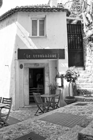 Small cafe in Eze.