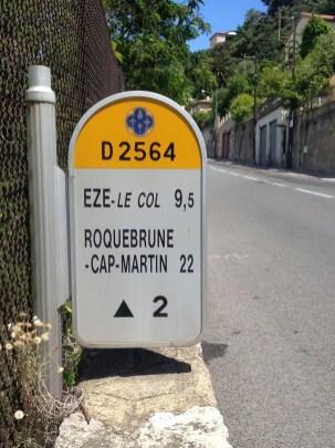 Col d'Eze Sign