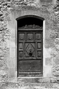 An old doorway, Lourmarin, France.