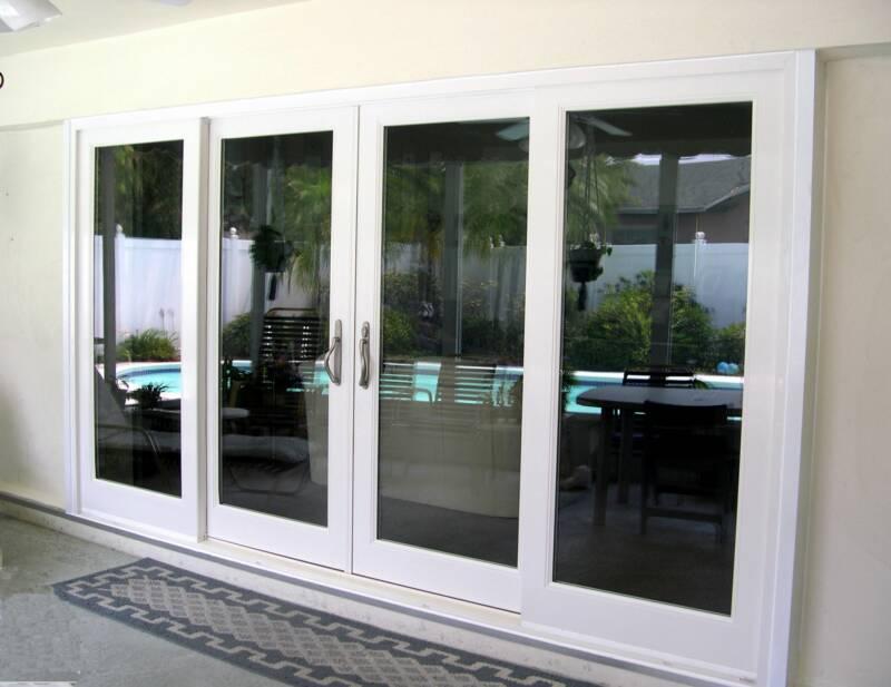 modern wide sliding glass doors style