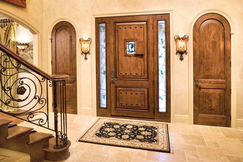 21 Great Example Of Rustic Double Front Door Designs