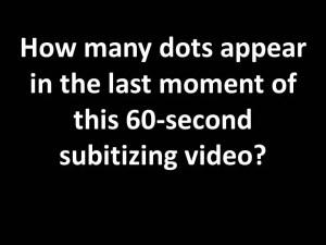 Subitizing Question Pic