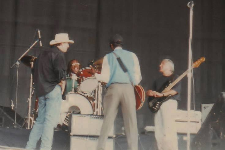 Chuck Berry, Andy Bailey, Stan Kipper, Steve York 1996