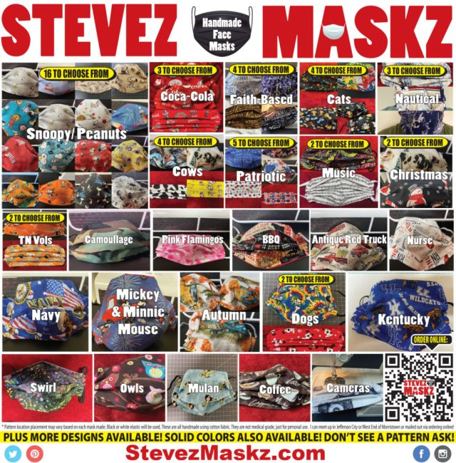SteveZ MaskZ Handmade Face Masks For Sale