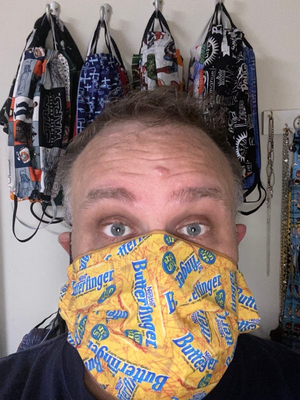 That yummy candy bar - show off your love for Butterfinger Candy with this face mask #Butterfinger