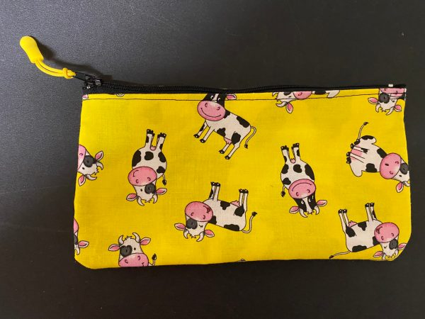 Holstein Cow Zipper Pouch - A Holstein cow themed zipper pouch. #ZipperPouch