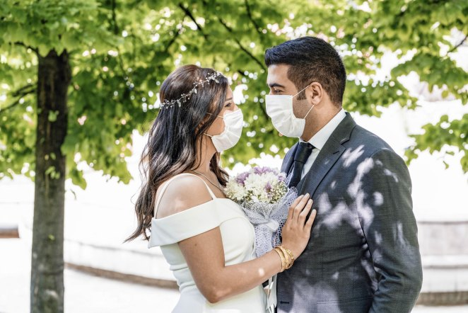 How to host a socially distant wedding - While planning a socially distant wedding presents some unique challenges, couples can take certain steps to ensure their big day is memorable and safe. #Wedding