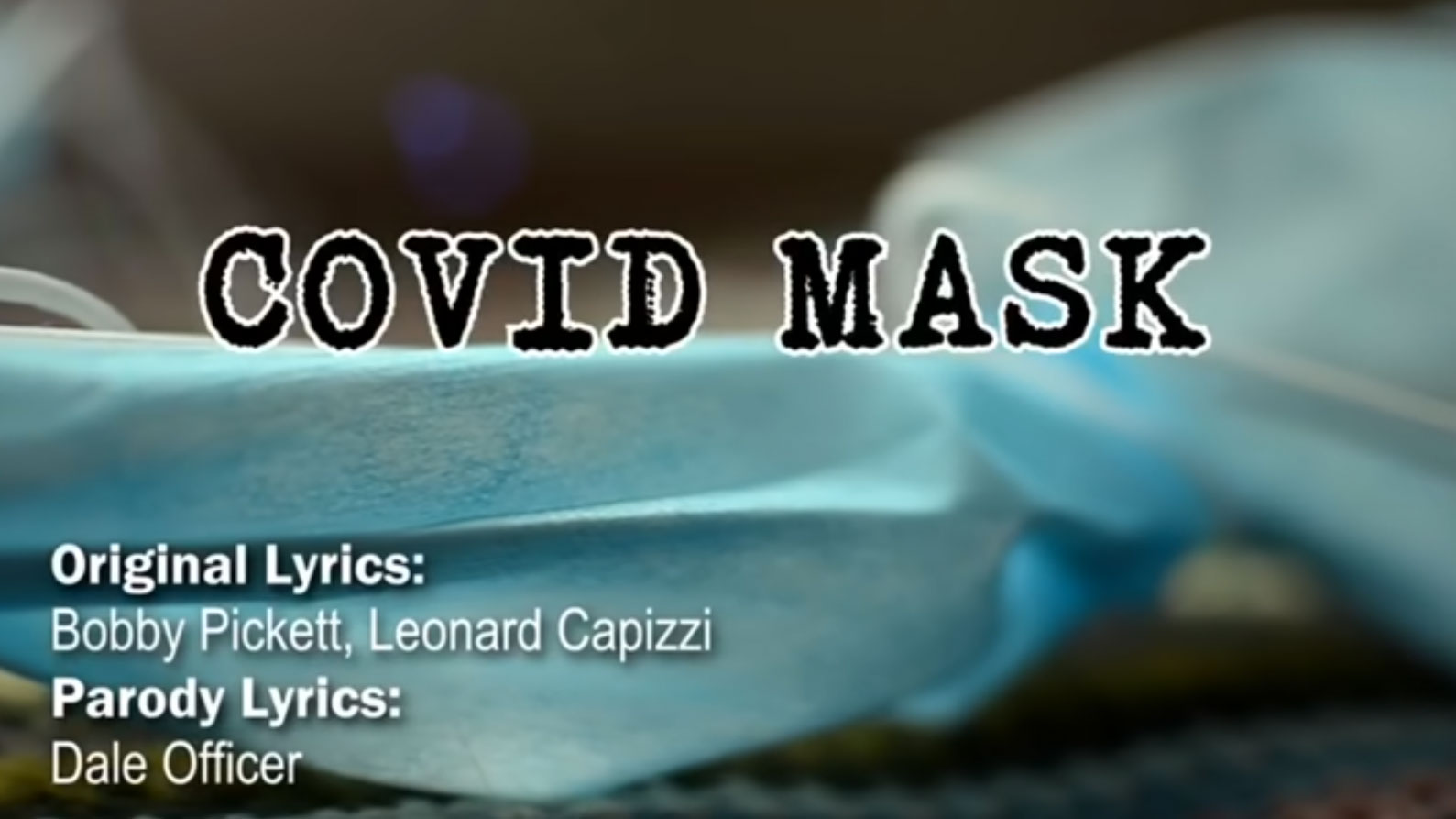 COVID Mask Parody to Monster Mash