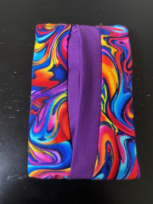 Colorful Swirl Pocket Tissue Holder - carry your tissues in your pocket in this colorful swirl.