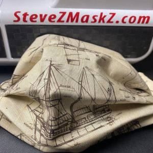Parts of a Ship Face Mask - This face mask has ships on it and it tells you want the parts of the ship are. #Ships