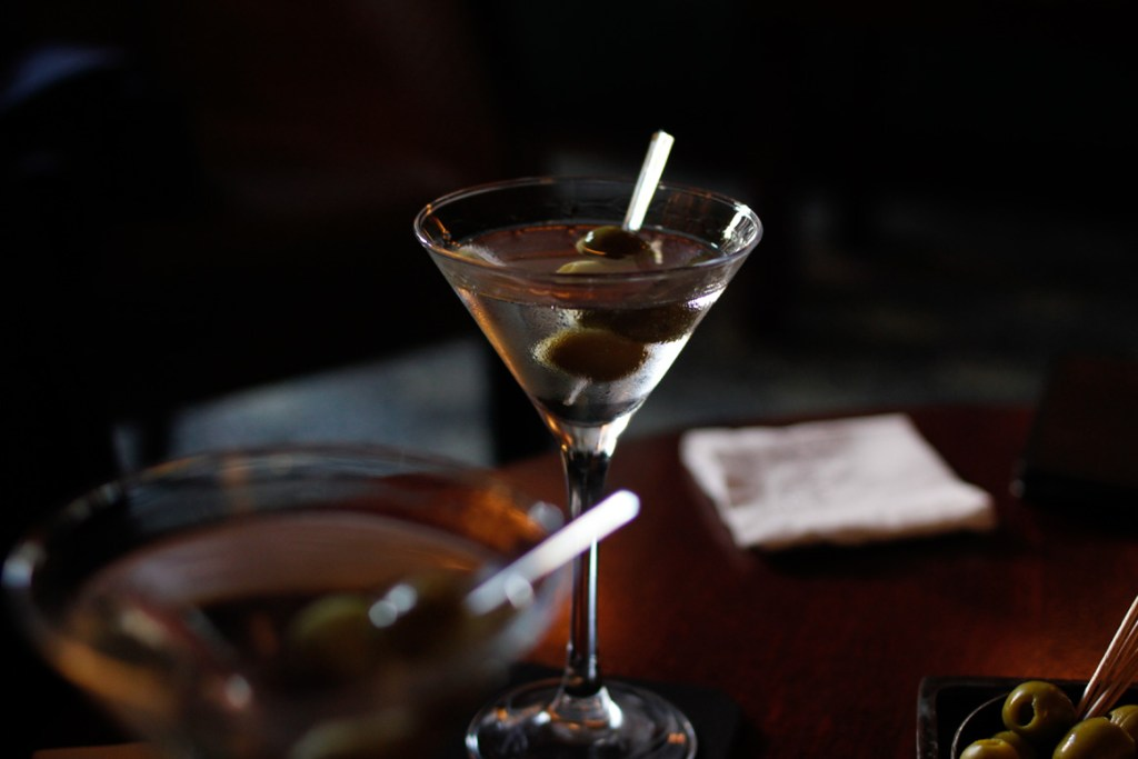 Dry Martini, Shaken not stirred, with Olive at The Stafford Hotel, American Bar,