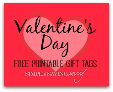 Valentine's Day Free Printable Gift Tags