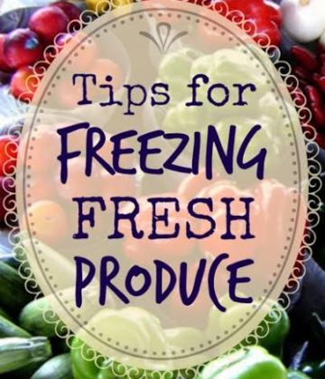 Tips for Freezing Fresh Produce