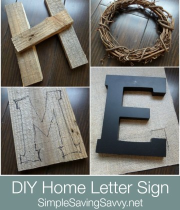 DIY Home Decor Letters