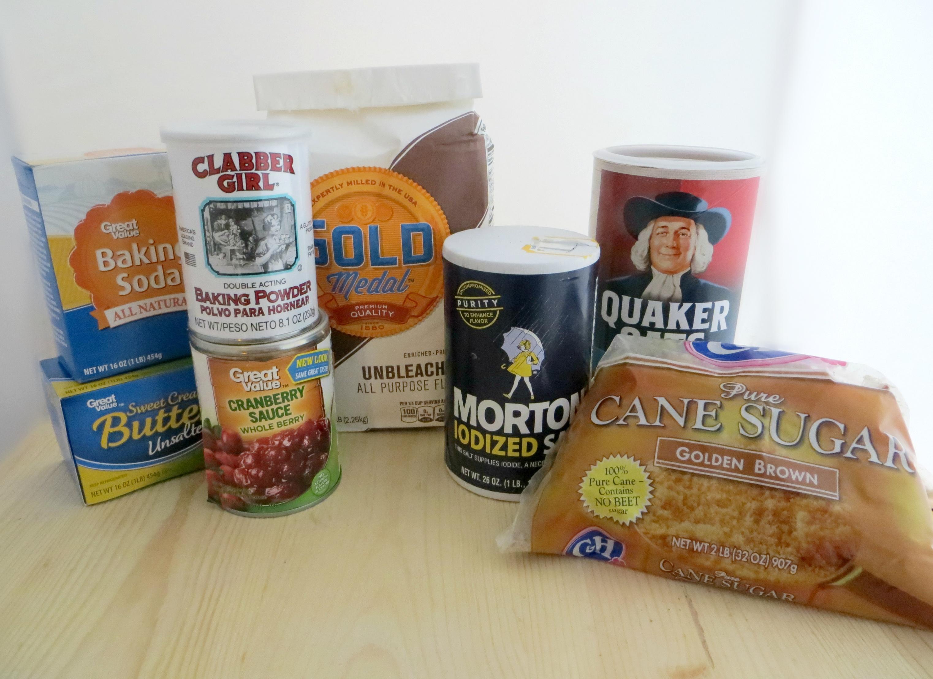 Cranberry Crumb Bars Ingredients