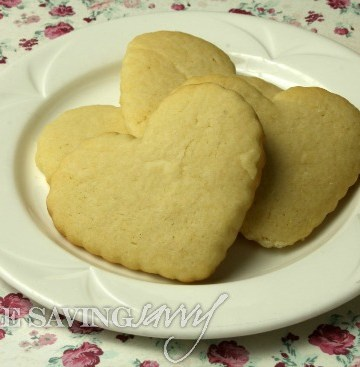 old fashioned sugar cookies on plate
