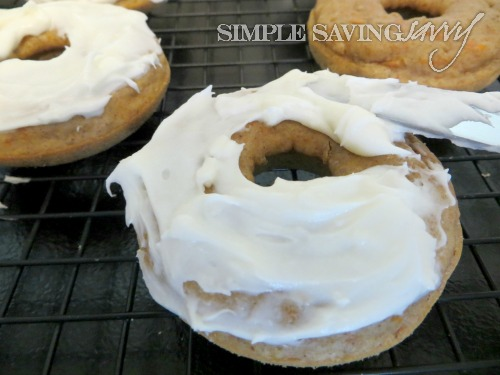 Baked Carrot Cake Donuts With Cream Cheese Frosting