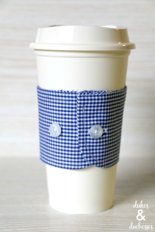repurposed shirt cuff coffee sleeve