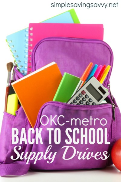 Back to School Supply Drives in OKC Metro Area