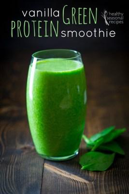 vanilla green protein smoothie