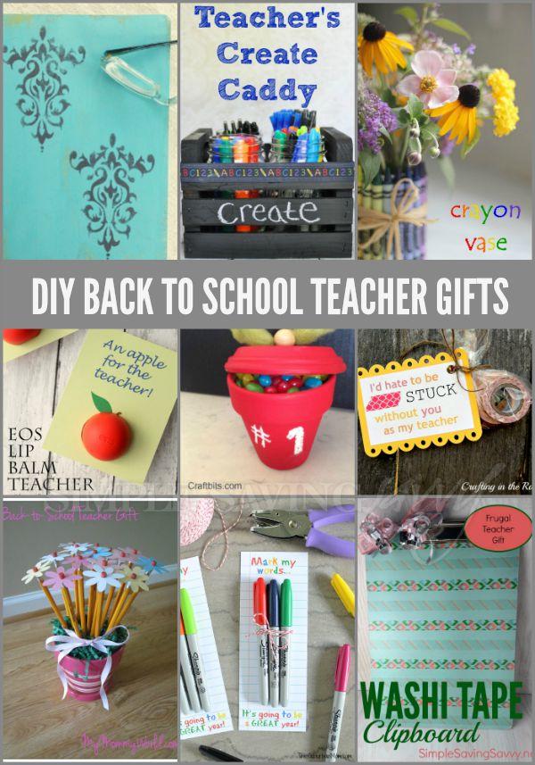 DIY Back to School Teacher Gifts