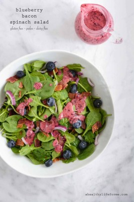 Blueberry Bacon Spinach Salad