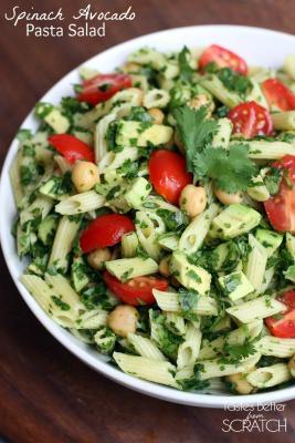 Spinach Avocado Pasta