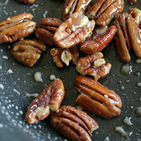 toasted pecans for triple layer pumpkin spice pie