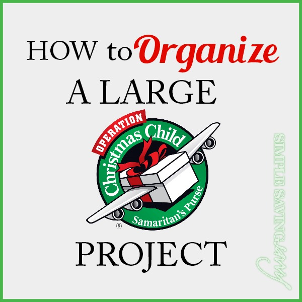 How to organize a large operation christmas child project