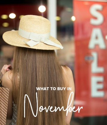 savvy shopper's guide - what to buy in november