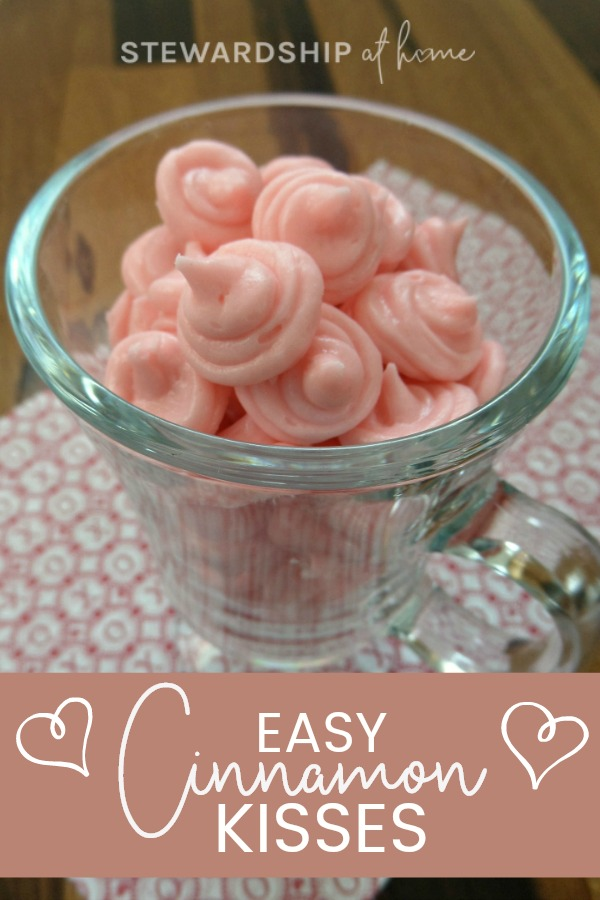 Cinnamon and kisses scream Valentine's Day! Why not innocently combine the two to make these smooth, mouth tingling Cinnamon Valentine Candy Kisses?