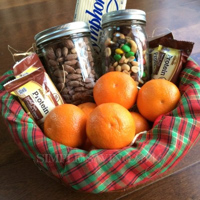 keep holiday hospitality simple with guest room snack basket