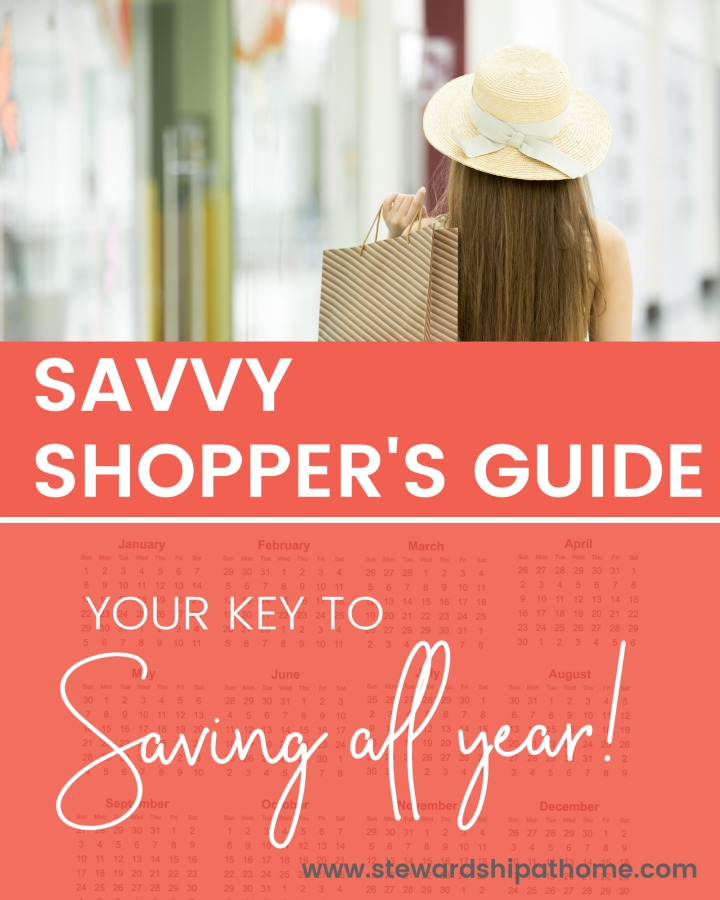 The Savvy Shopper's Guide is a month by month manual to help you determine what time of the year is the best time to buy the things you need. It's your key to saving all year on everything from groceries and clothing to appliances and electronics and more. It's intended to help you save the most money!