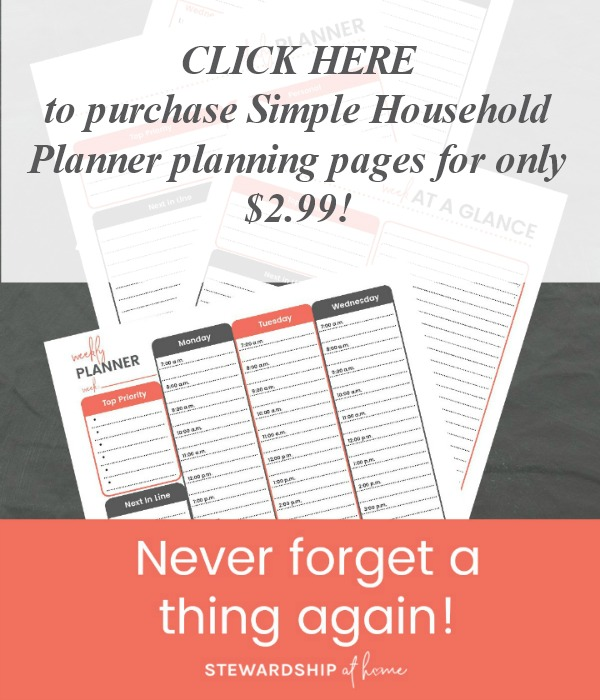 purchase simple household planner