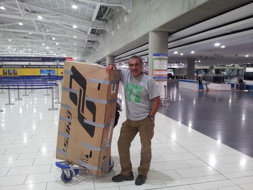 Stewart Innes Ghost Bike in transit - back to Cyprus