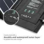 Stewart Innes Solar device charger RAVPower 24W Solar Charger with Triple USB Ports
