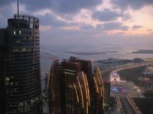 Cycling-Iran-Dubai-abu-DHabi--to-Oman Abu Dhabi, vu du haut de la tour où on m'a hébergé.