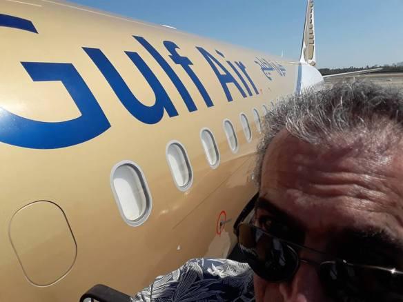 Selfie at aircraft