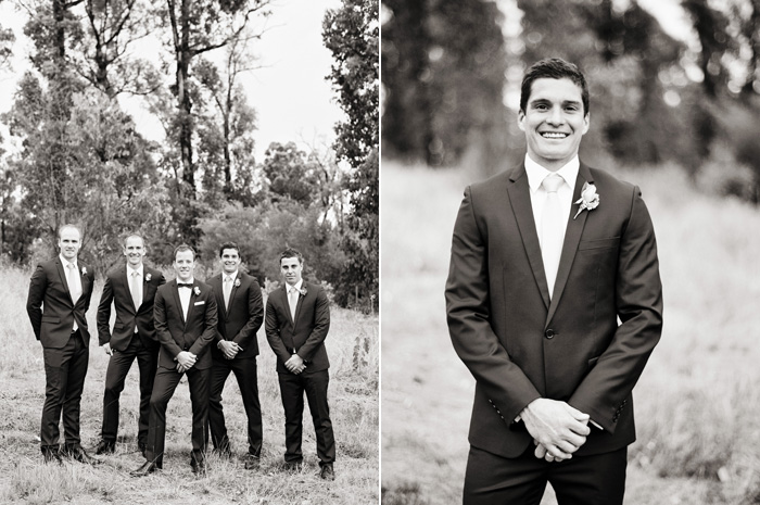 one of the groomsman is Leigh Montagna from St Kilda Football club