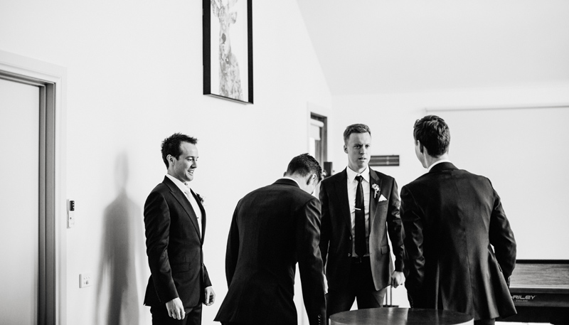 groomsman getting ready